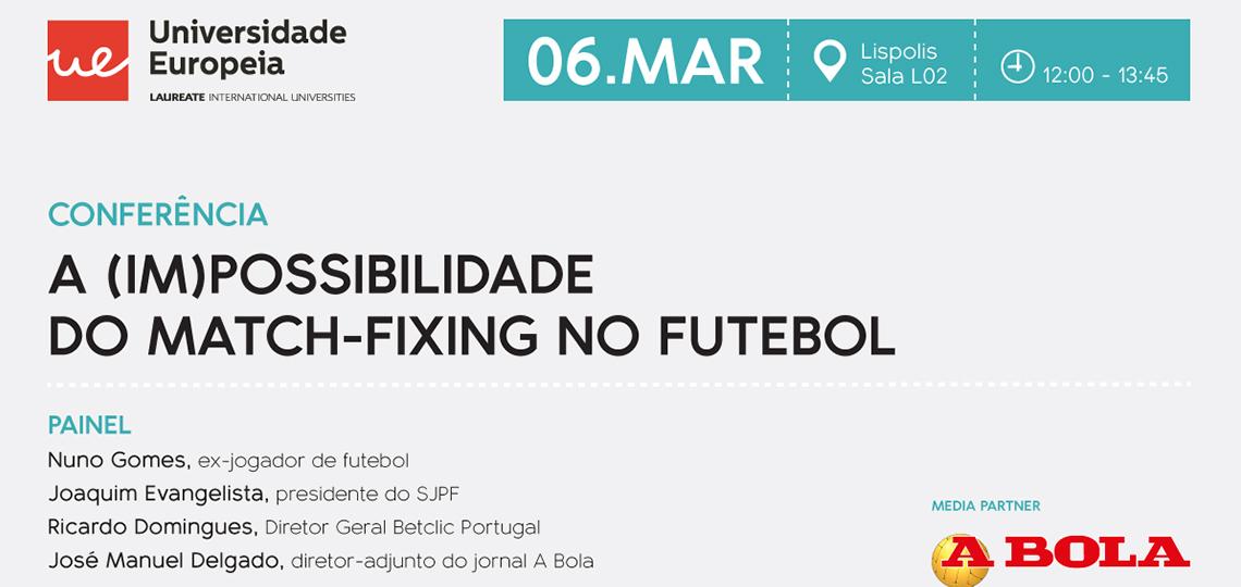 Universidade Europeia promove conferência sobre match-fixing